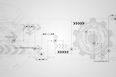 applied: Vector abstract background technology concept.