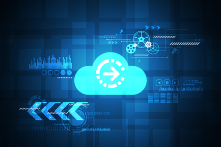 applied: Vector technology in the cloud concept. Illustration