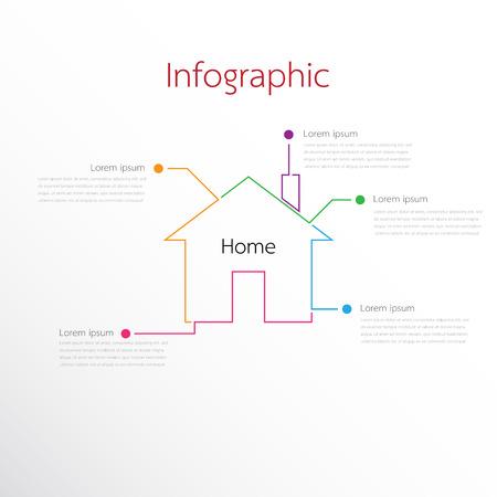 Modèles d'infographie vectorielle utilisés pour les rapports détaillés. Tous les 5 sujets.