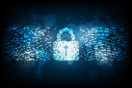 Security in digital format. Vektoros illusztráció