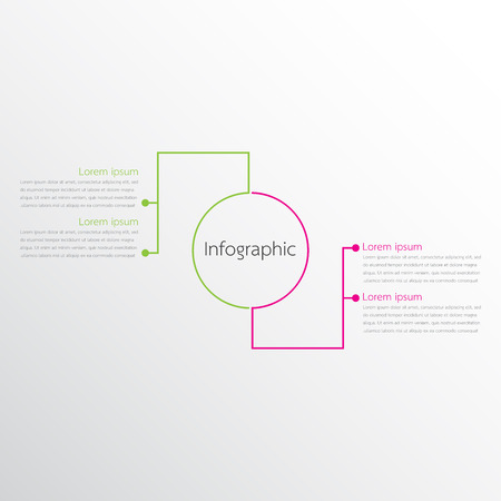 Vector infographic templates used for detailed reports. All 2 topics.