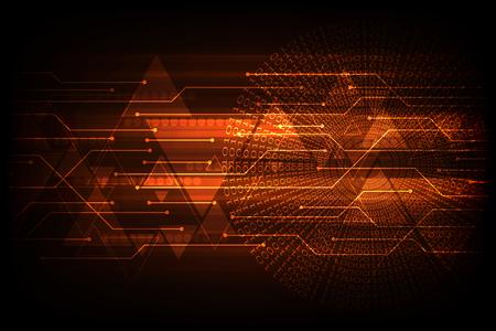 Technology circuit design vector Illusztráció