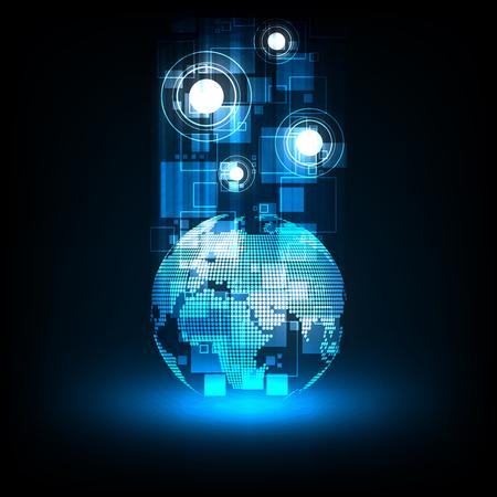 Digital world communication system.