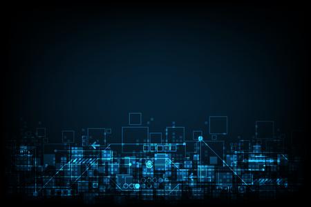 Abstract background technology digital design. Illusztráció