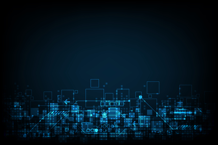 Abstract background technology digital design. Illustration