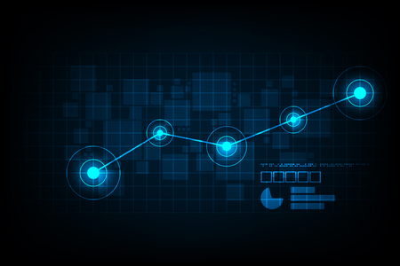 digital background: Graphs used to represent data in digital form. Illustration