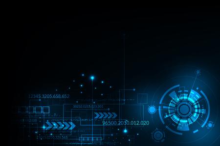 Vector abstract background technology innovation of the future. Illusztráció
