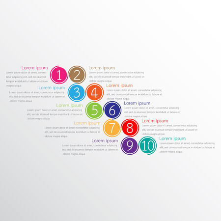 A Vector infographic templates used for detailed reports. All 10 topics.