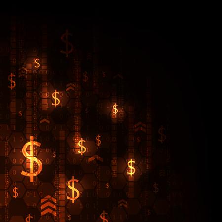 Electronic money alternative to the future vector illustration Illusztráció