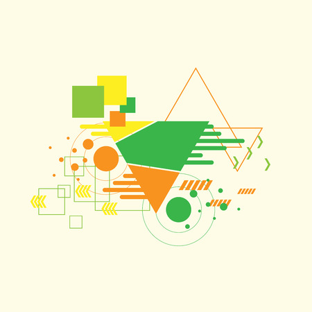 business graphics: Vector background, geometric shapes, modern design in the concept of art.
