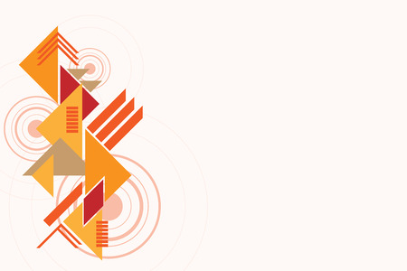 Vector background, geometric shapes, modern design in the concept of art.