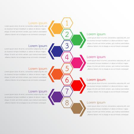 8 info graphic templates used for detailed reports Vektoros illusztráció