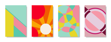 Vector background, geometric shapes, modern design in the concept of art. There are 4 types.