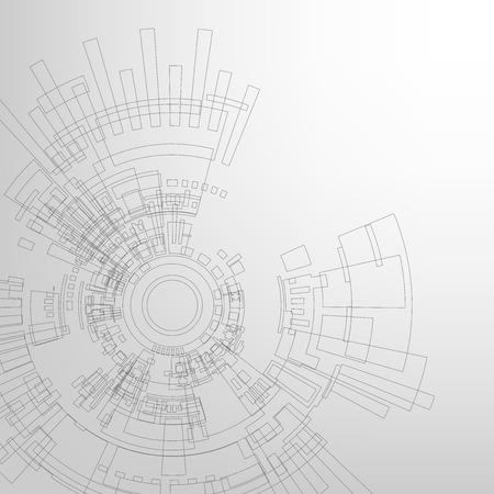 Vector background in the concept of technology. Vektoros illusztráció