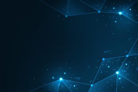 Vector background data network design.