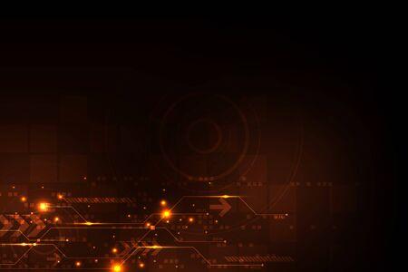 Vector abstract background technology circuit design. Illusztráció