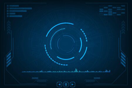 Vector background technology in the concept of audio.