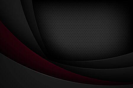 Sfondo vettoriale astratto nero con caratteristiche sovrapposte.