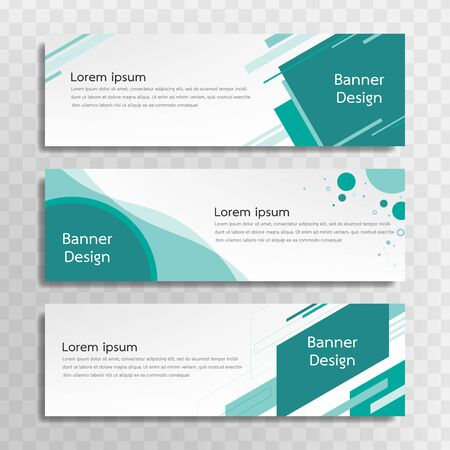 Un conjunto de plantillas de banner verde diseñadas para la web y varios titulares están disponibles en tres diseños diferentes.