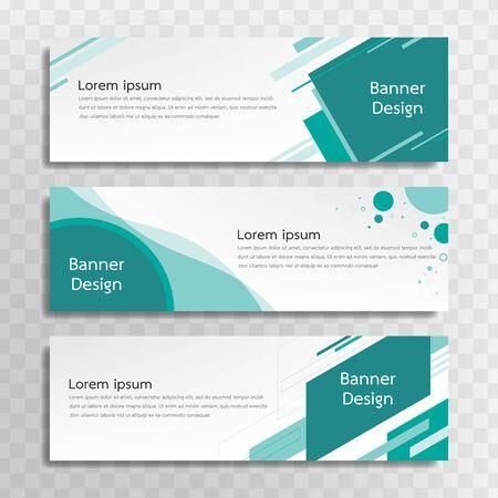 Un ensemble de modèles de bannières vertes conçus pour le Web et divers titres sont disponibles dans trois modèles différents.