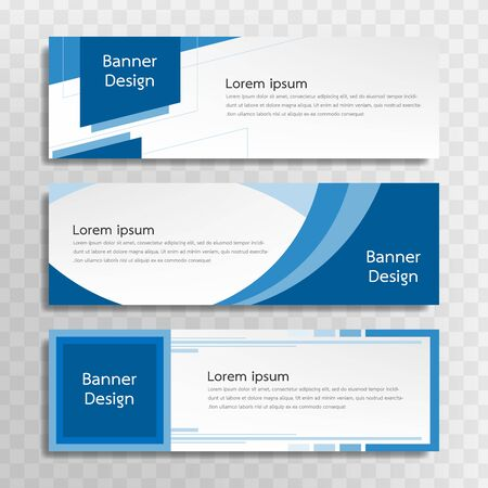 A set of blue banner templates designed for the web and various headlines are available in three different designs. Illusztráció