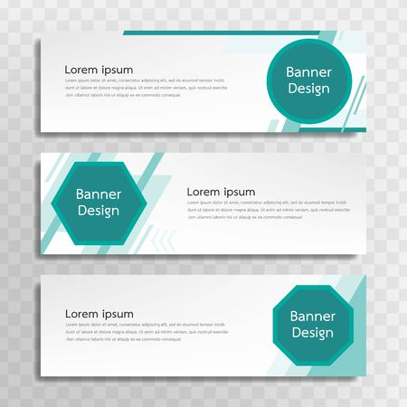 A set of green banner templates designed for the web and various headlines are available in three different designs. Vektoros illusztráció