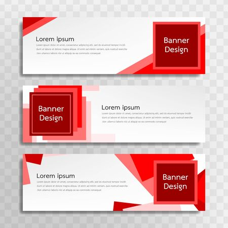 A set of red banner templates designed for the web and various headlines are available in three different designs. Illusztráció