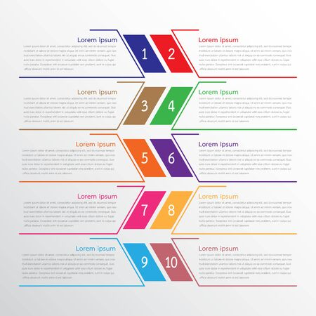 Vector infographic templates used for detailed reports. All 10 topics. Illusztráció
