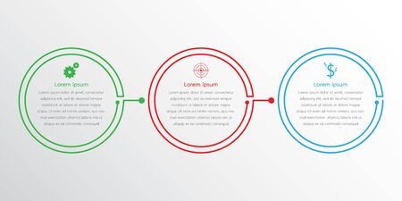 Vector infographic templates used for detailed reports. All 3 topics.