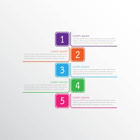 Vector infographic templates used for detailed reports. All 5 topics.