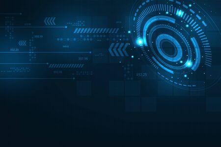 Fond de vecteur dans le concept de la technologie.