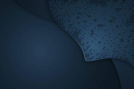 Dark blue abstract vector background with overlapping characteristics.
