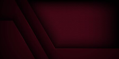 Red abstract vector background with overlapping characteristics.