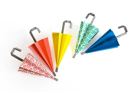 Paper umbrella in different colours Stock Photo - 3694907