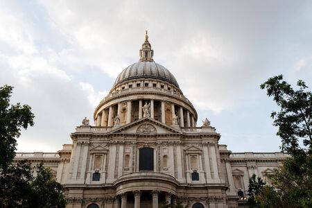 The south side of St Paul's Cathedral in the City of London  Stock Photo