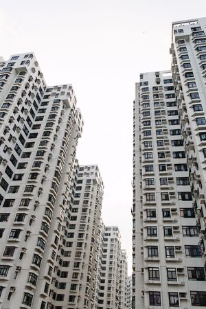 Tall apartment buildings in Hong Kong
