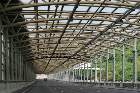 Noise barriers of Ma On Shan Bypass in Hong Kong