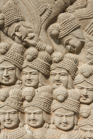 low relief: Low relief carving I Stock Photo