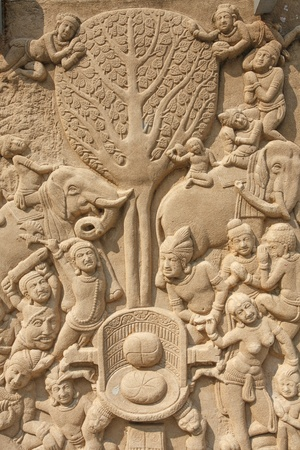 low relief: Low relief carving II Stock Photo