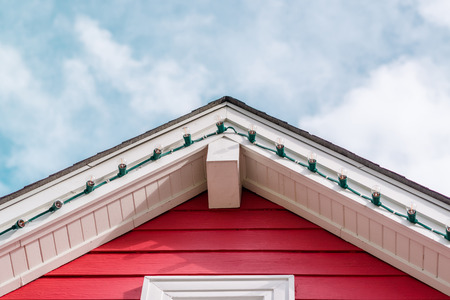 dormitories: Picture of  roof gable Stock Photo