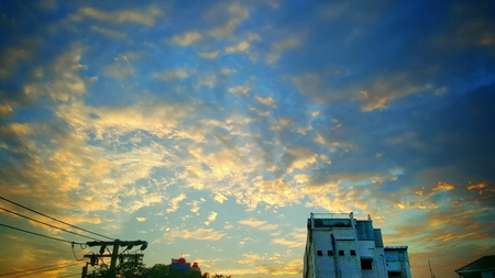 style: When sky meet the pastel style Stock Photo