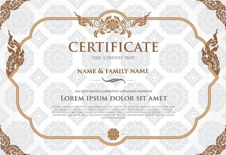 fondo de graduacion: Certificado de plantilla de diseño.