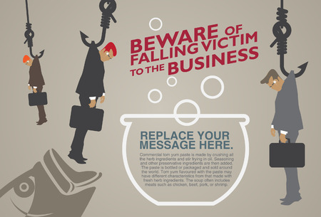 comparing: You may be a victim of business-Illustrations Illustration