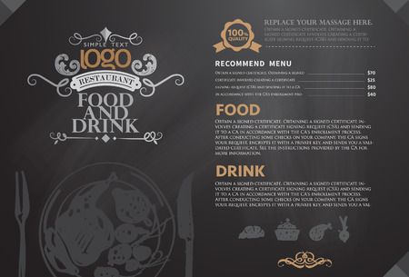 MENU: Restaurant or coffee house menu design