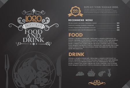 restaurante: Restaurante ou casa menu de café do projeto
