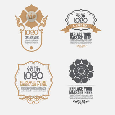 vector set: calligraphic design elements and page decoration - lots of useful elements to embellish your layout, thai art Illustration