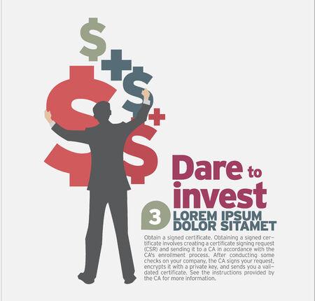 dare: Dare to invest. Illustration