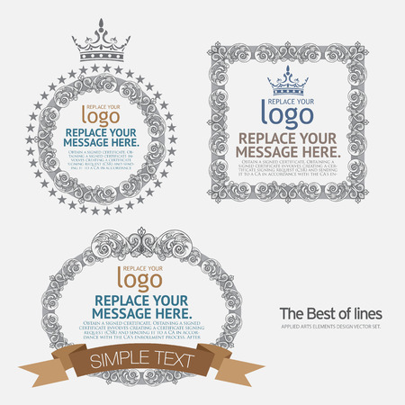 foliate: vector set: calligraphic design elements and page decoration - lots of useful elements to embellish your layout