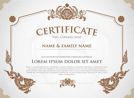 Certificate Design Template. Ilustrace