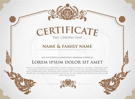 Certificate Design Template. Ilustração